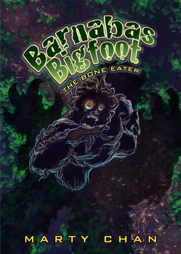 Derek Mah cover of Barnabas Bigfoot - The Bone Eater written by Marty Chan