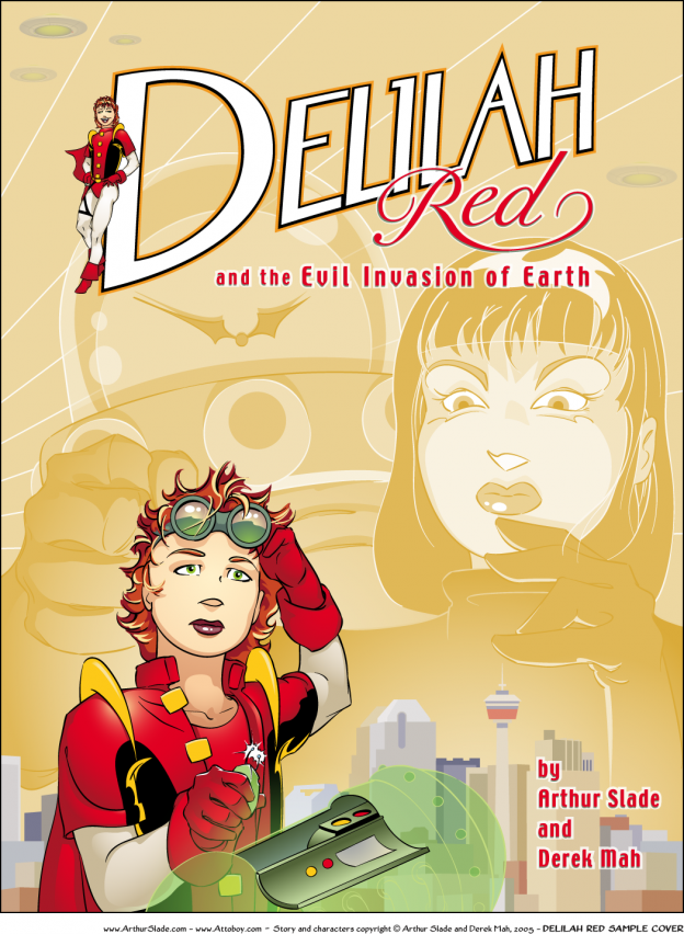 Derek Mah Illustration Arthur Slade Delilah Red