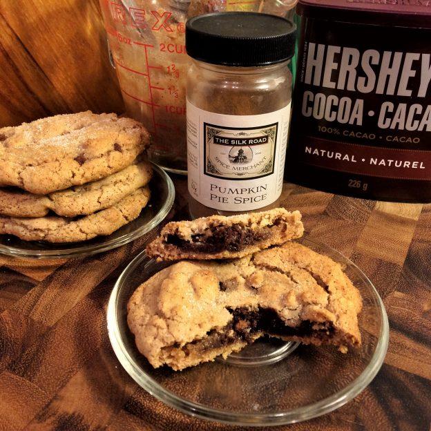 Derek Mah pumpkin spice ginger chocolate cookie