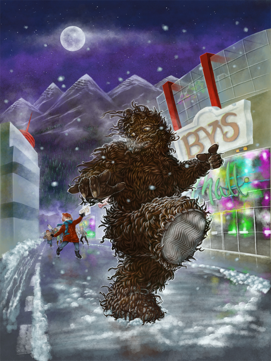 Marty Chan's Barnabas Bigfoot - a close shave full painting