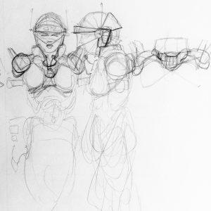 Derek Mah comics sketch