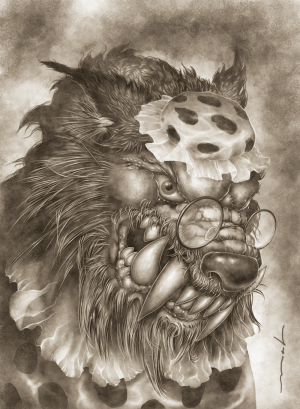 Derek Mah Arthur Slade Monsterology Portrait Big Bad Wolf