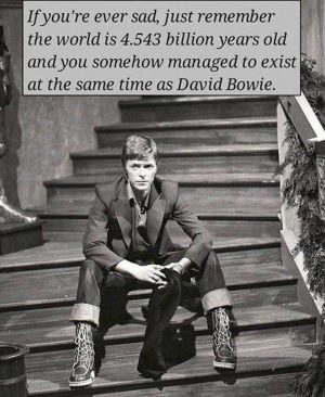 david bowie exists same time as you