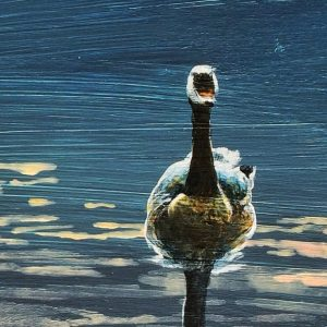 detail of Mel's goose painting