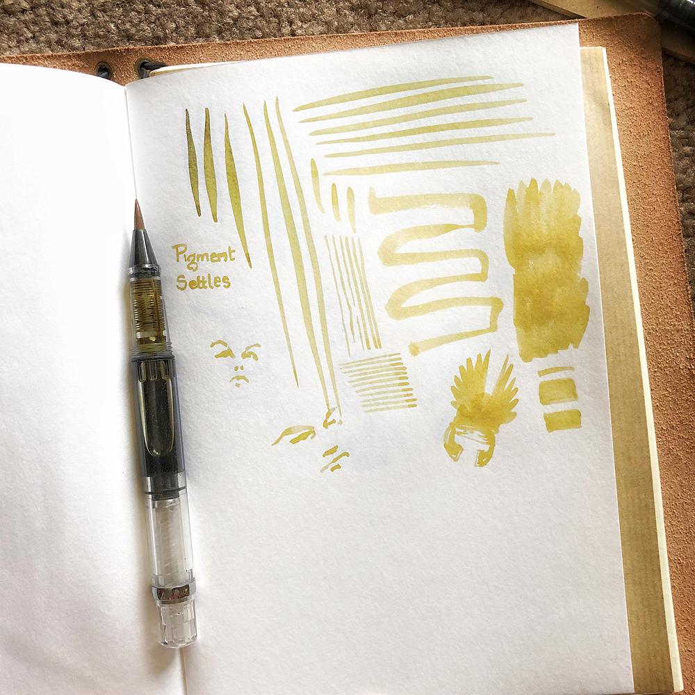 Derek Mah illustrator waterbrush iroshizuku ina-ho